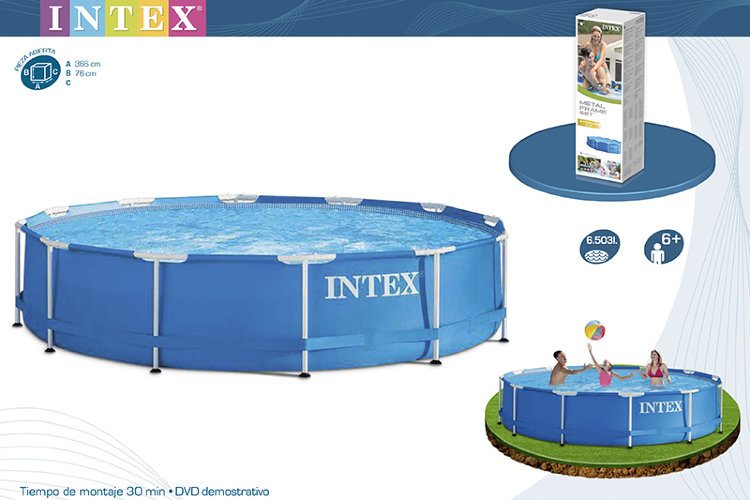 Каркасный бассейн 366х76см, Metal Frame Pool intex 28210